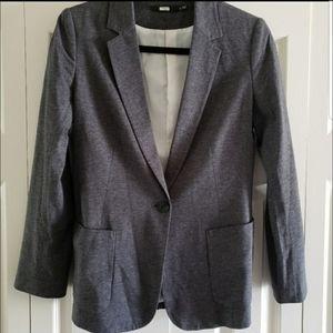 Uniqulo Grey Blazer Single Button Lined Small